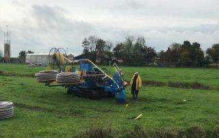 Hoogwaterboerderij draineren op Zegveld